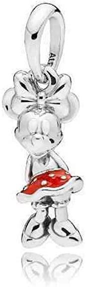 minnie red dress charm