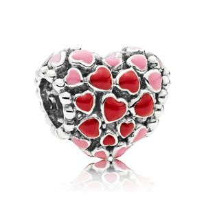 red and pink hearts charm