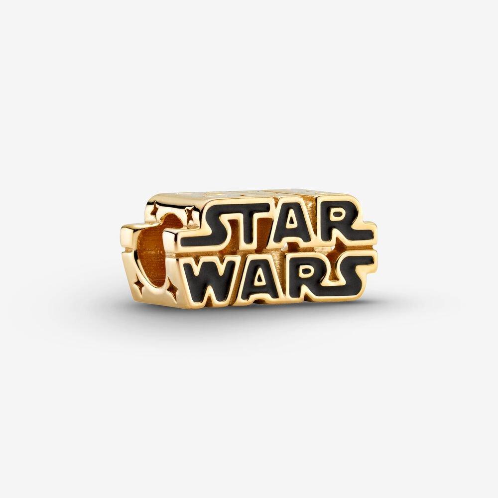 star wars logo gold charm