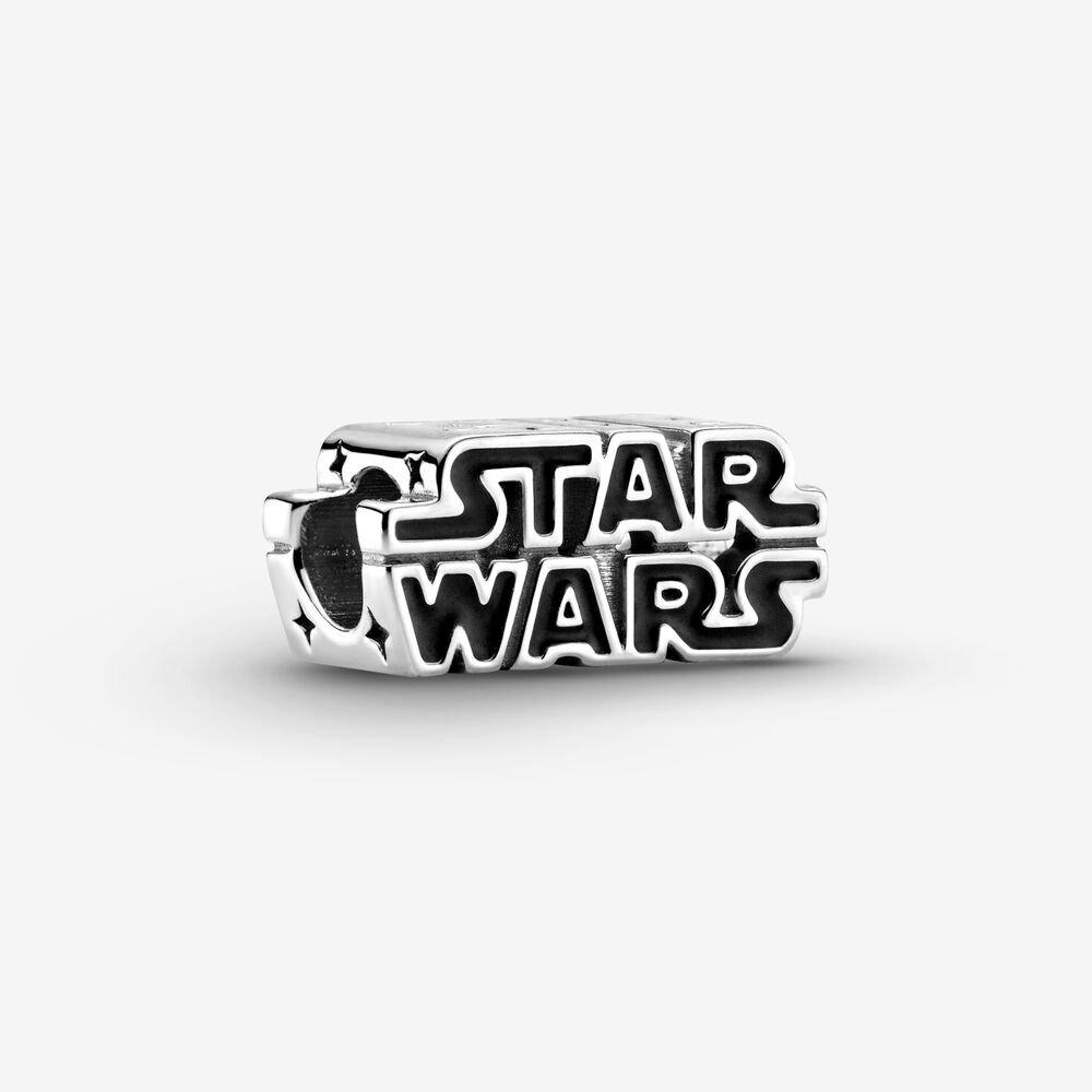 star wars logo silver charm