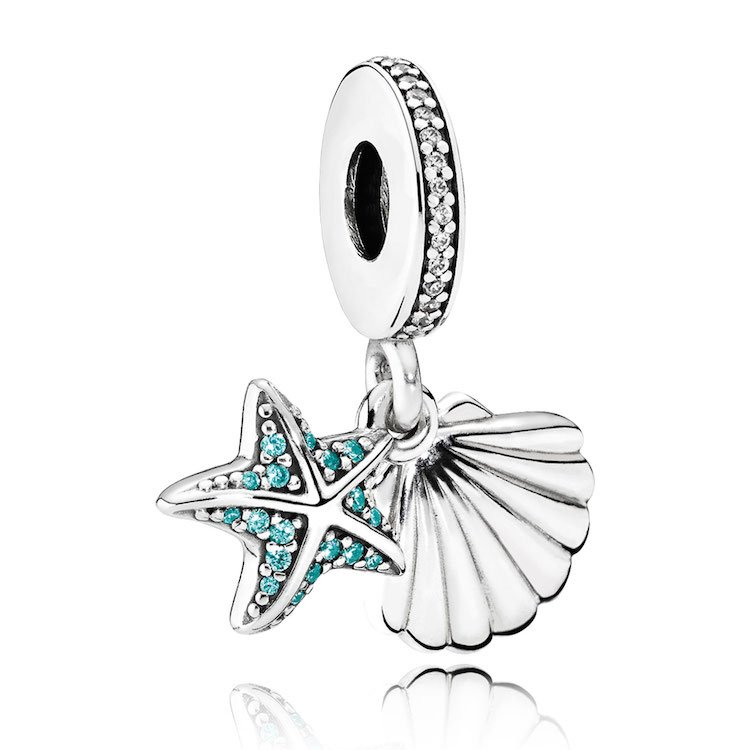 starfish seashell dangle