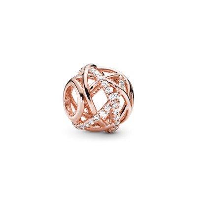 galaxy openwork bead rose charm
