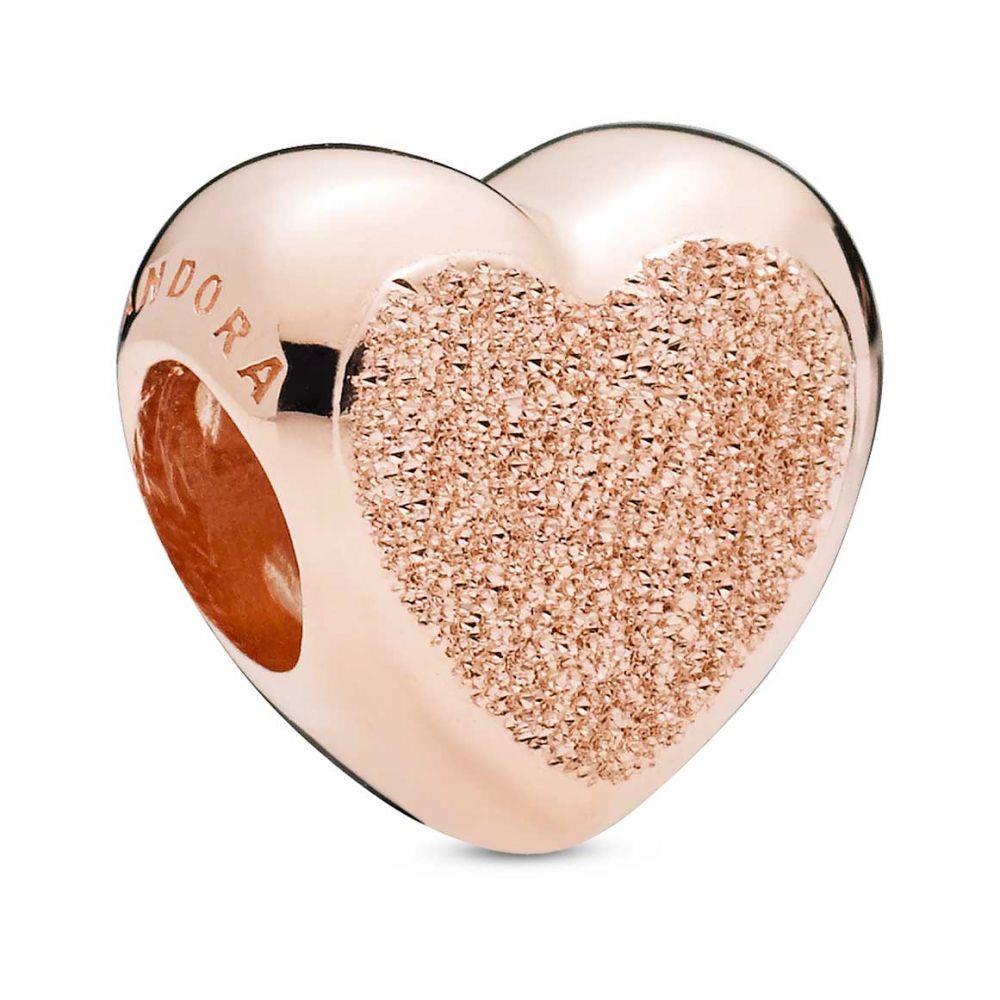 matte brilliance heart rose charm