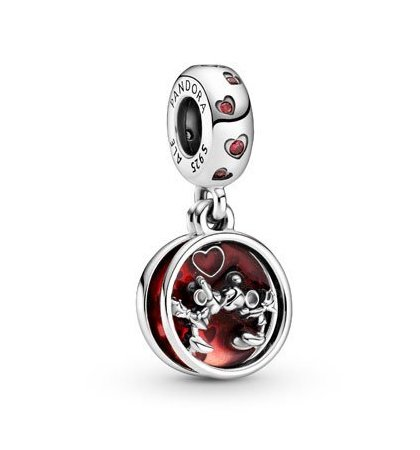 mickey and minnie love and kisses dangle charm