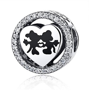 mickey and minnie love charm