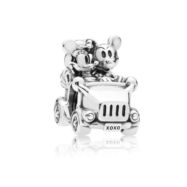 mickey and minnie vintage car charm