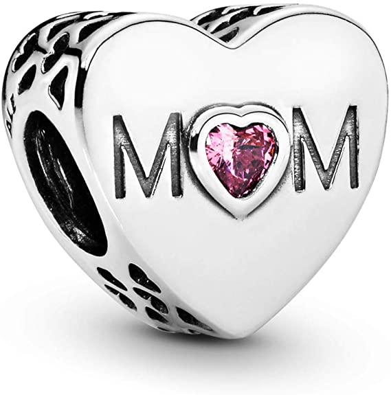 mom heart charm