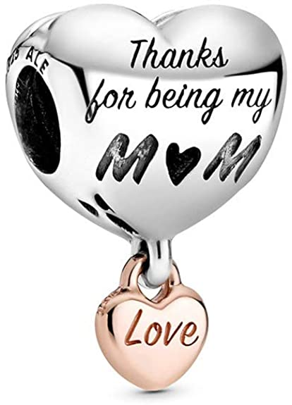 mom love double heart charm
