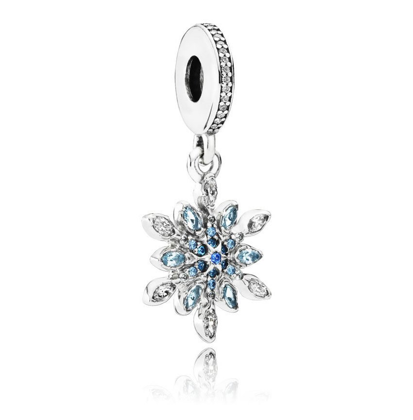 shimmering snowflake dangle charm