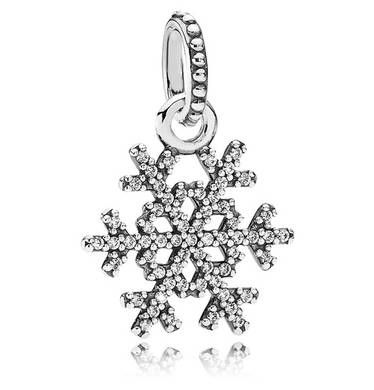 winter kiss snowflake charm