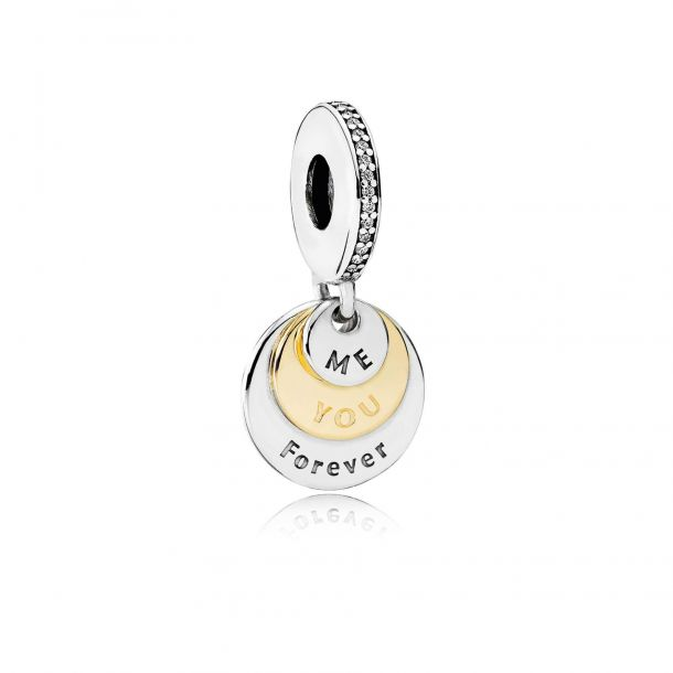 you and me forever dangle charm