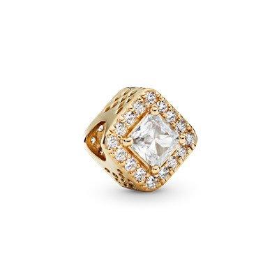 geometric radiance 14k gold charm