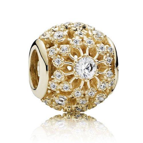 inner radiance 14k gold charm