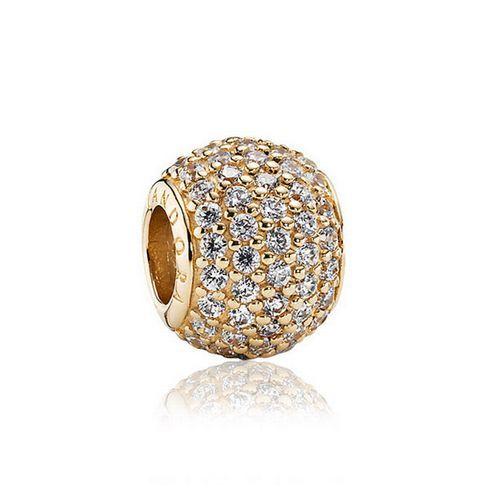 pavé lights 14k gold charm