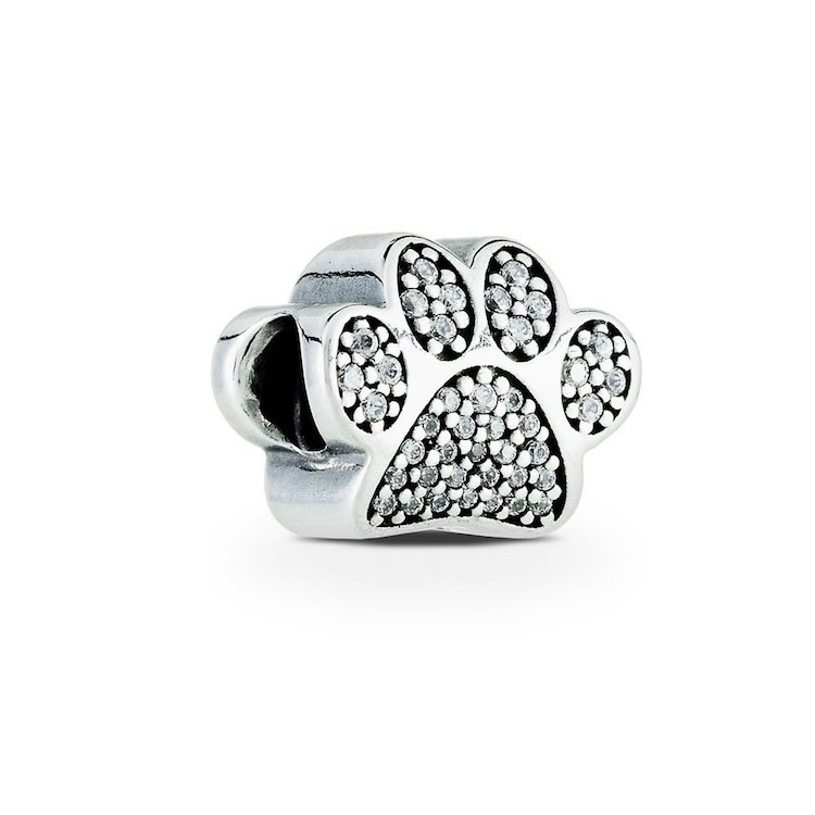 dog paw print charm