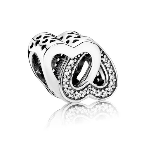 entwined hearts charm