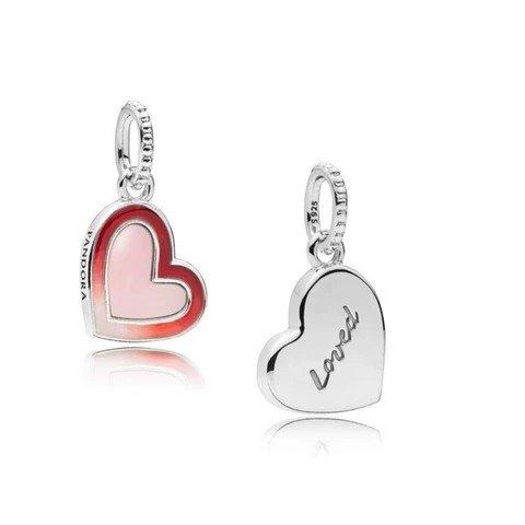 asymmetric heart of love charm