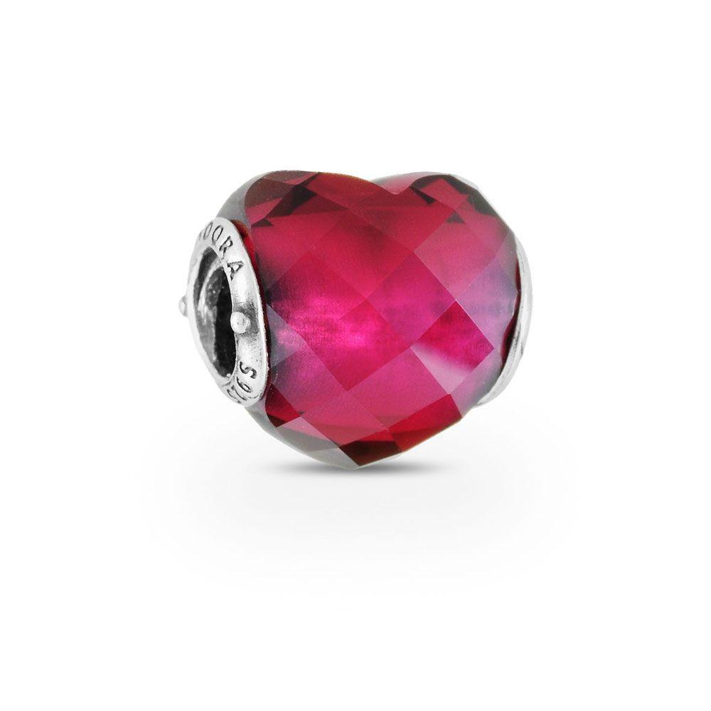 fuchsia heart charm