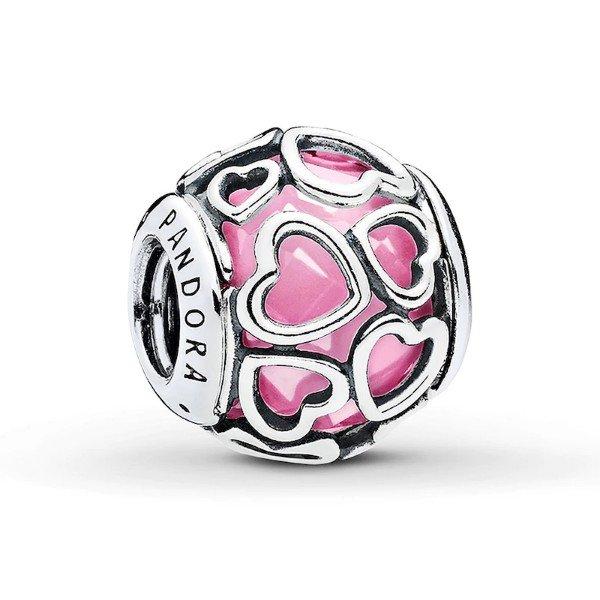 pink encased in love charm