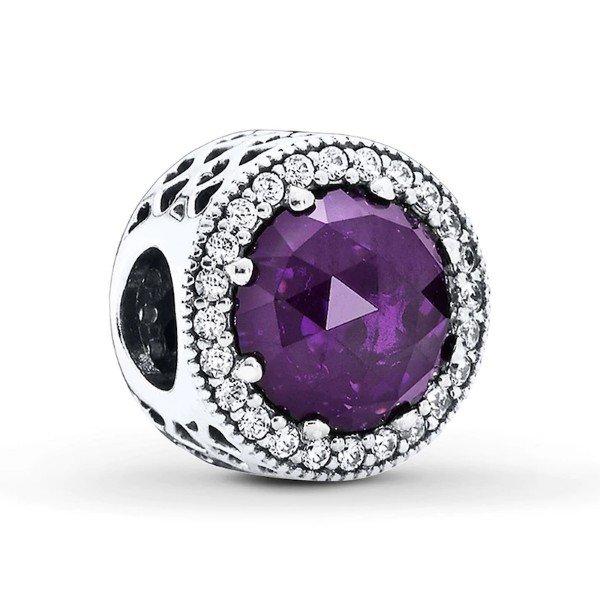 royal purple radiant hearts charm