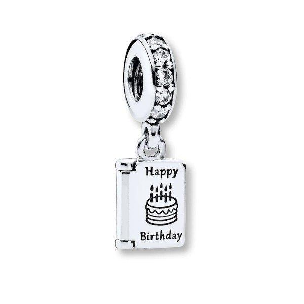 birthday card dangle charm