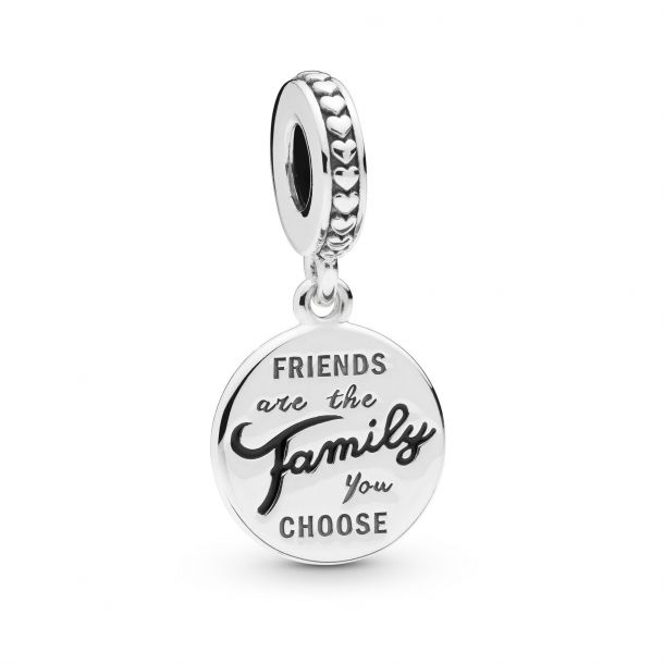 friends are family dangle charm