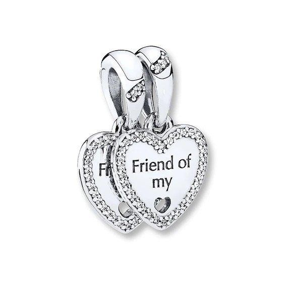 hearts of friendship dangle charm