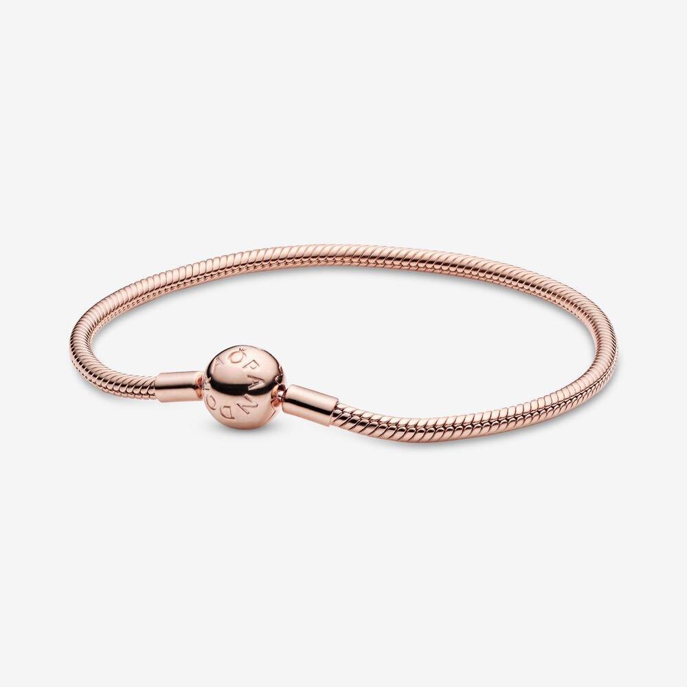 pandora moments 14k gold snake chain bracelet