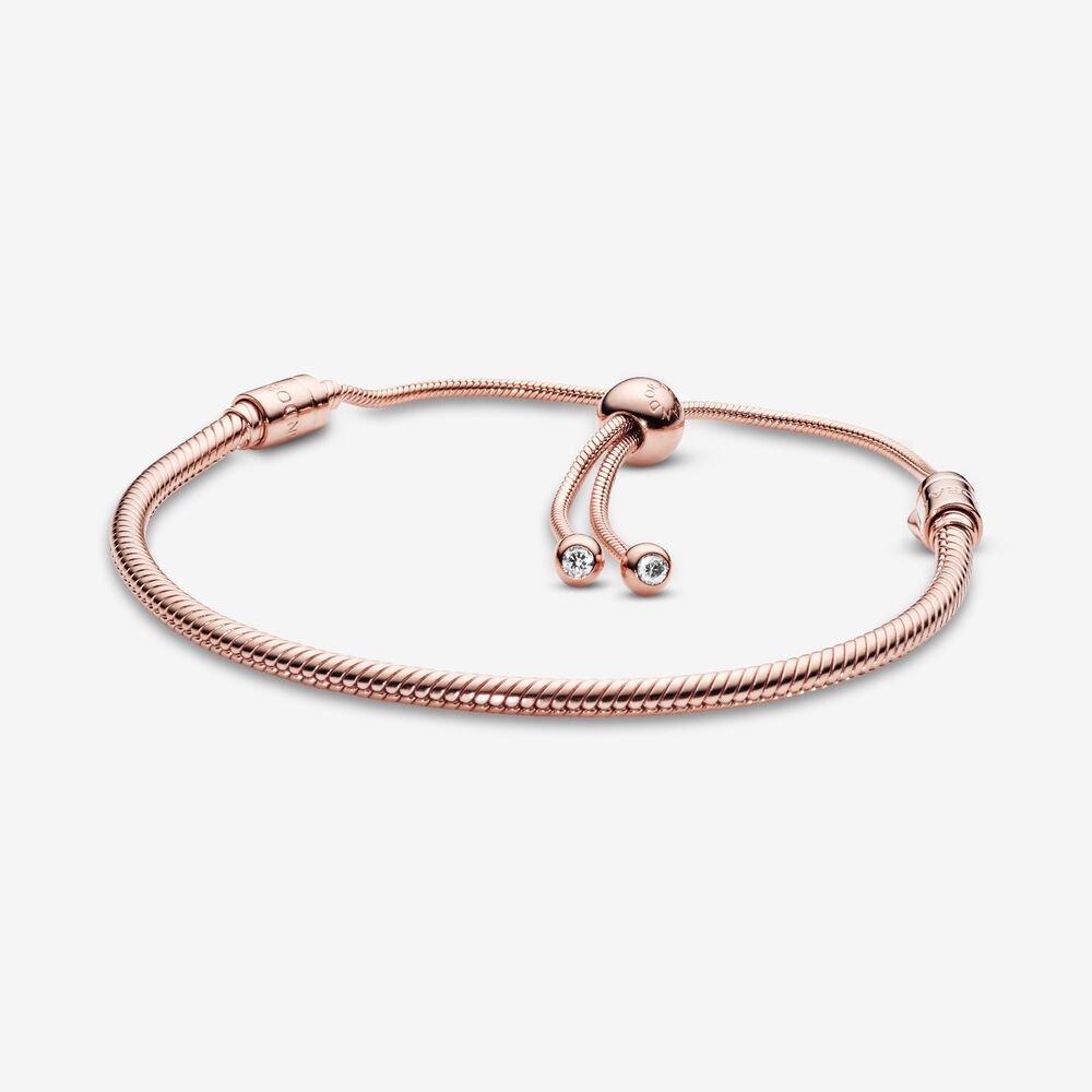 pandora moments 14k gold snake chain slider bracelet