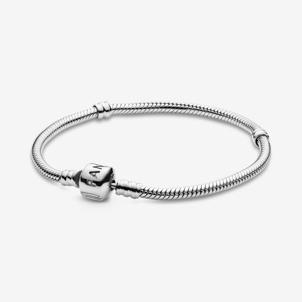 pandora moments snake chain bracelet barrel clasp